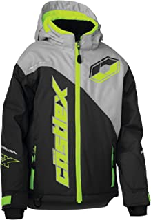 Castle X Stance G2 Youth Snowmobile Jacket - Charcoal/Silver/Hi-Vis (LRG)