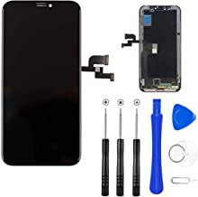 Master Screen for iPhone X 5.8 inch LCD Display Screen Replacement Digitizer Full Assembly Touchscreen with 3D Touch in Black