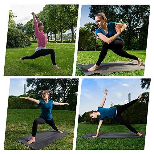 GIMDUMASA Pantalón Deportivo de Mujer Cintura Alta Leggings Mallas para Running Training Fitness Estiramiento Yoga y Pilates GI188(Negro,m)