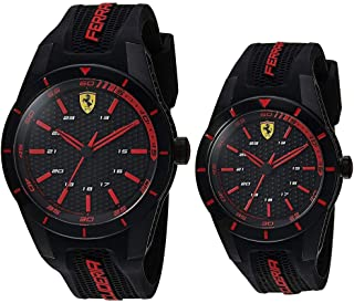 Scuderia Ferrari MEN'S BLACK DIAL BLACK SILICONE WATCH - 870017