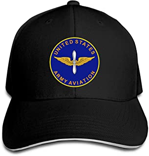 US Army Aviation Unisex Sandwich Baseball Cap Adjustable Snapback Hat Hunting Casquette