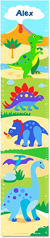 Dinosaur Land Personalized Wall Decal Growth Chart By Olive Kids