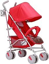 gao Sillas De Paseo Cochecito Se Puede Sentar Reclinable Choque Portátil Plegable Luz Paraguas Viaje Recién Nacido Carro De Bebé Rojo