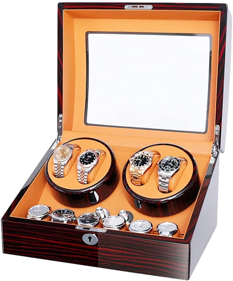 FHISD Limited time cheap sale Watch Storage Box favorite Gift Rotate Automatic 4+6 Winder