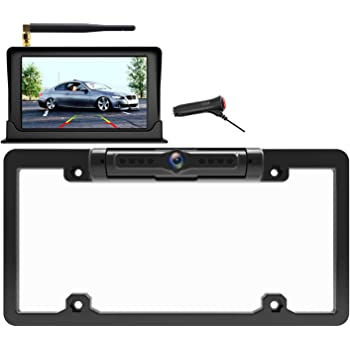 WiFi Digital Wireless Backup Camera for iPhone//Android IP69 Waterproof Car License Plate Frame Camera for Cars,Trucks,SUVs Pickups,Vans