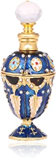 YUFENG 5ml Restoring Ancient Ways Hollow-Out Rattan Flower Perfume Bottles Empty Refillable (Blue)