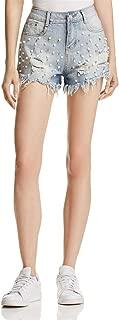 Sadie & Sage Womens Embellished Destroyed Denim Shorts
