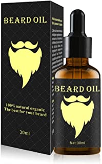Pawaca Beard Oil - 30ml Men's Beard Fast Growth Liquid Hair Growth Essential Oil - Ginger Oil, North American Oil, Rosemary Leaf Oil, Vitamin E, Grapefruit Seed Oil,Gentle Repair Hair Follicle Growth