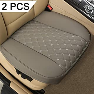 "Black Panther 2 PCS PU Car Seat Covers, Front Seat Protectors Compatible with 90% Vehicles,Embroidery,Anti-Slip & Full Wrapping Edge (W 21.26''D 20.86"")(Gray)"