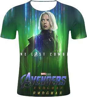 3D digital full printed Short sleeve avengers t shirt Hawkeye Marvel avengers black widow captain America iron man spider-man thor Top&Tee