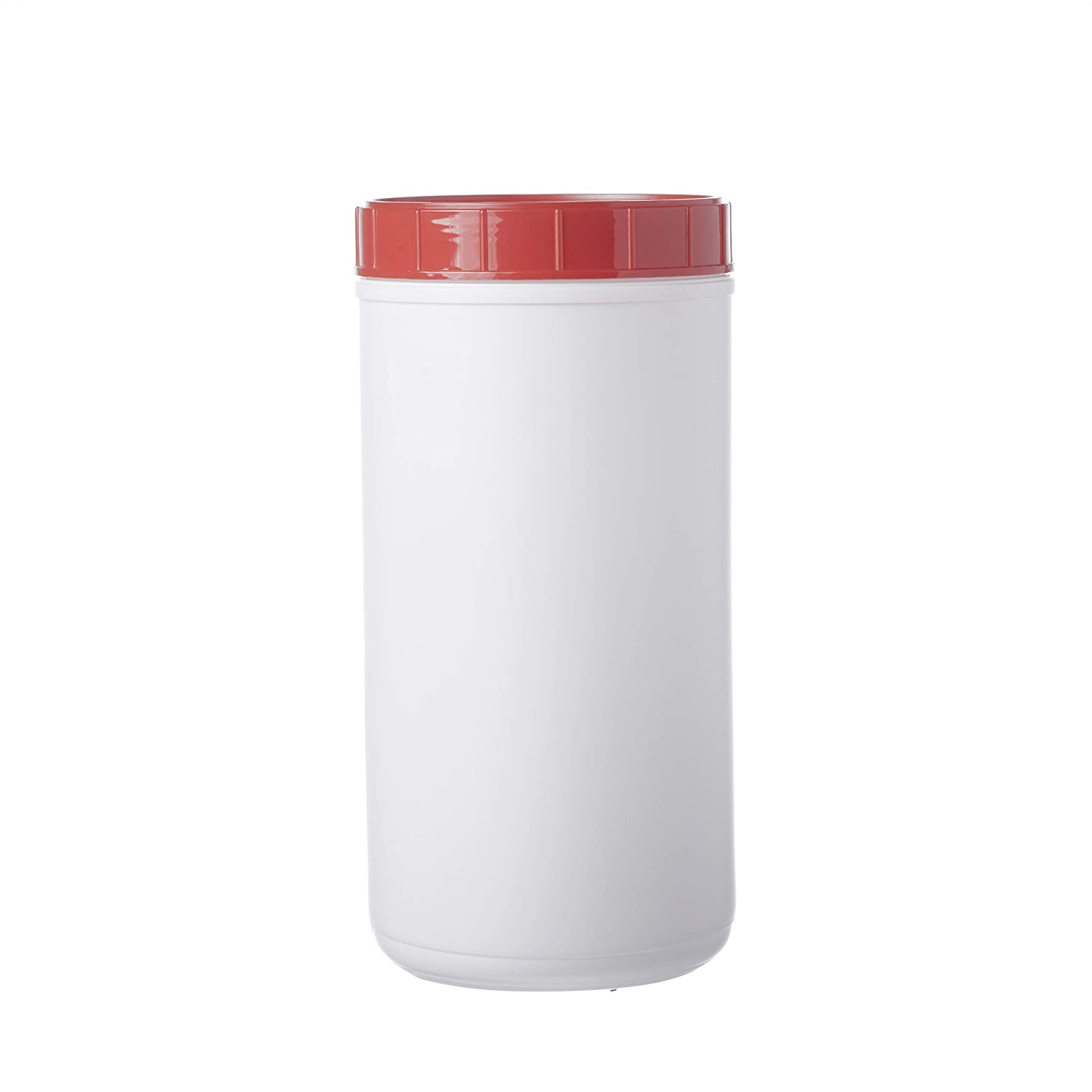 Consolidated Plastics Max 51% Bombing new work OFF 42598 HDPE White Canister Li Red