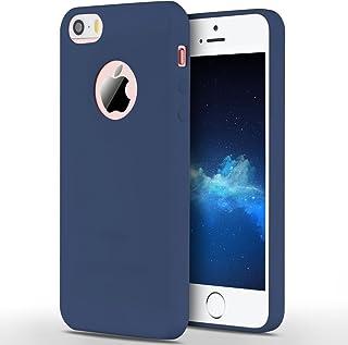 b6f485ef80f Anfire Funda iPhone 5S / SE / 5, Carcasa Silicona Gel TPU para Apple Ultra  Delgado Suave Mate Goma Protectora Caso Flexible Caja Ligero Back Case Cover  Anti ...