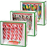 Candy Cane Peppermint Red, Green, White & Rainbow Cherry Gift Set | 12 Pieces in Each Box - Pack of 3 - 36 Total Count | Individually Wrapped | Includes To & From Gift Tags (3 Flavors)