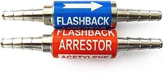 Inline 3/8 Oxygen Acetylene Propane Flashback Arrestor Set Barbs Torch Welding