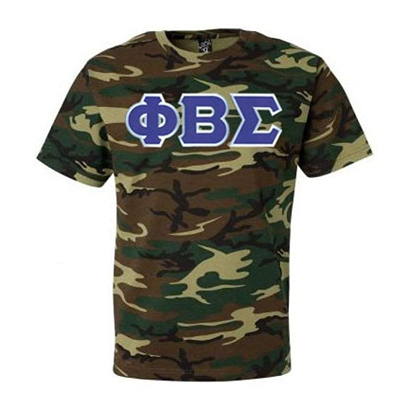 Phi Beta Sigma Fraternity Greek Lettered Camouflage Short Sleeve T-Shirt