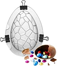 Shell and Turtle Easter Egg Molds,Dinosaur Egg Chocolate Mold for Cake Chocolate Jello Soap, Food Grade Plastic with Clips...