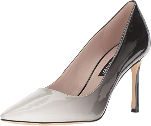 Nine West Wohommes EMMALA Synthetic Pump, blanc noir, 6 M US
