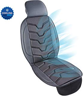 Cooling Car Seat Cushion, 12V Automotive Cool Seat Covers Universal Fit Seat Cushion Ventilate Breathable Air Flow with Holes for Driver Seat, Vehicle Front And Back Seats, Office Chair in Hot Summer