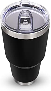 30 oz Stainless Steel Tumbler, Insulated Coffee Tumbler Cup with Lid Mug Double Wall Water Travel Coffee Cup for Home, Off...