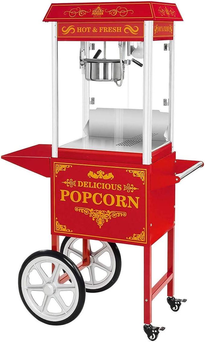 24 opinioni per Royal Catering- RCPW-16.3- Macchina per popcorn con carretto- rosso