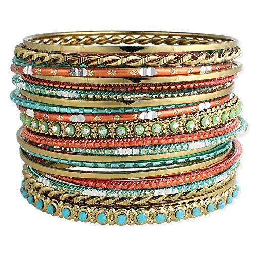 Zad Jewelry Set von 22Golden, türkis & Coral Armreif Armbänder