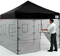 Impact Canopy 10' x 10' Pop-Up Canopy Tent, Instant Food Vendor Booth with Mesh Walls and Roller Bag, Black