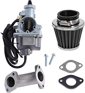 VM22 Carburetor for 125cc 140cc Lifan YX Zongshen Chinese Pit Dirt Bikes XR50 CRF70 KLX BBR Apollo Thumpstar Braaap Atomic DHZ SSR Dirt Pit Bike w/Air Filter Intake Manifold