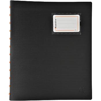 Tiger Porte-vues 150 pochettes avec étui de rangement Couverture rigide 300 vues//pages Noir A4 301687