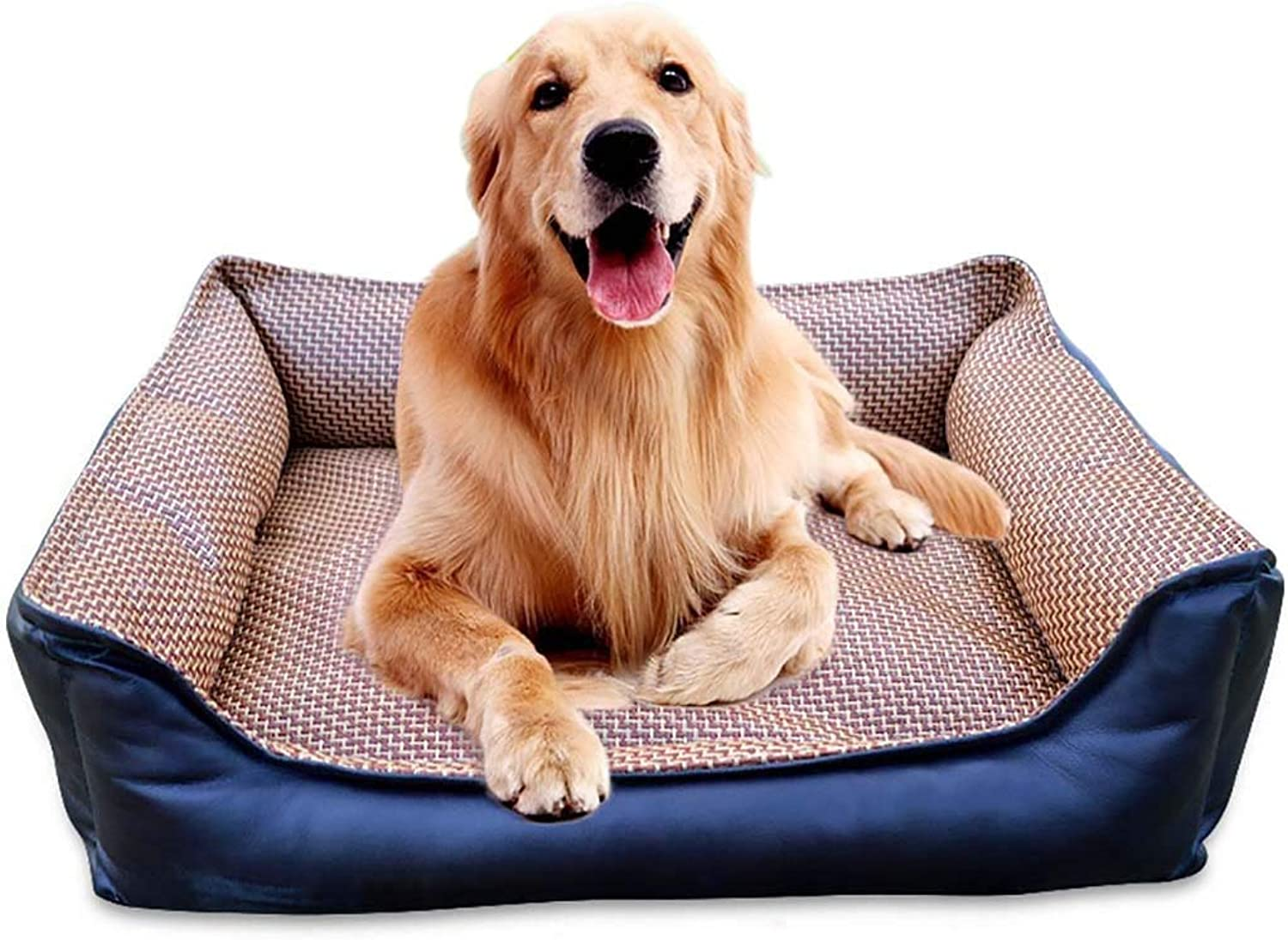 J&Z Dog sofa cat nest removable and washable Four Seasons ApplySmall Dog Bed Matte Dog Room, bluee, Three Sizes + +,M