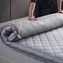 Tatami Foldable Mattress, Japanese Thick Futon Sleeping Pad Soft Floor Mat Portable Camping Mattress for Student Dormitory...