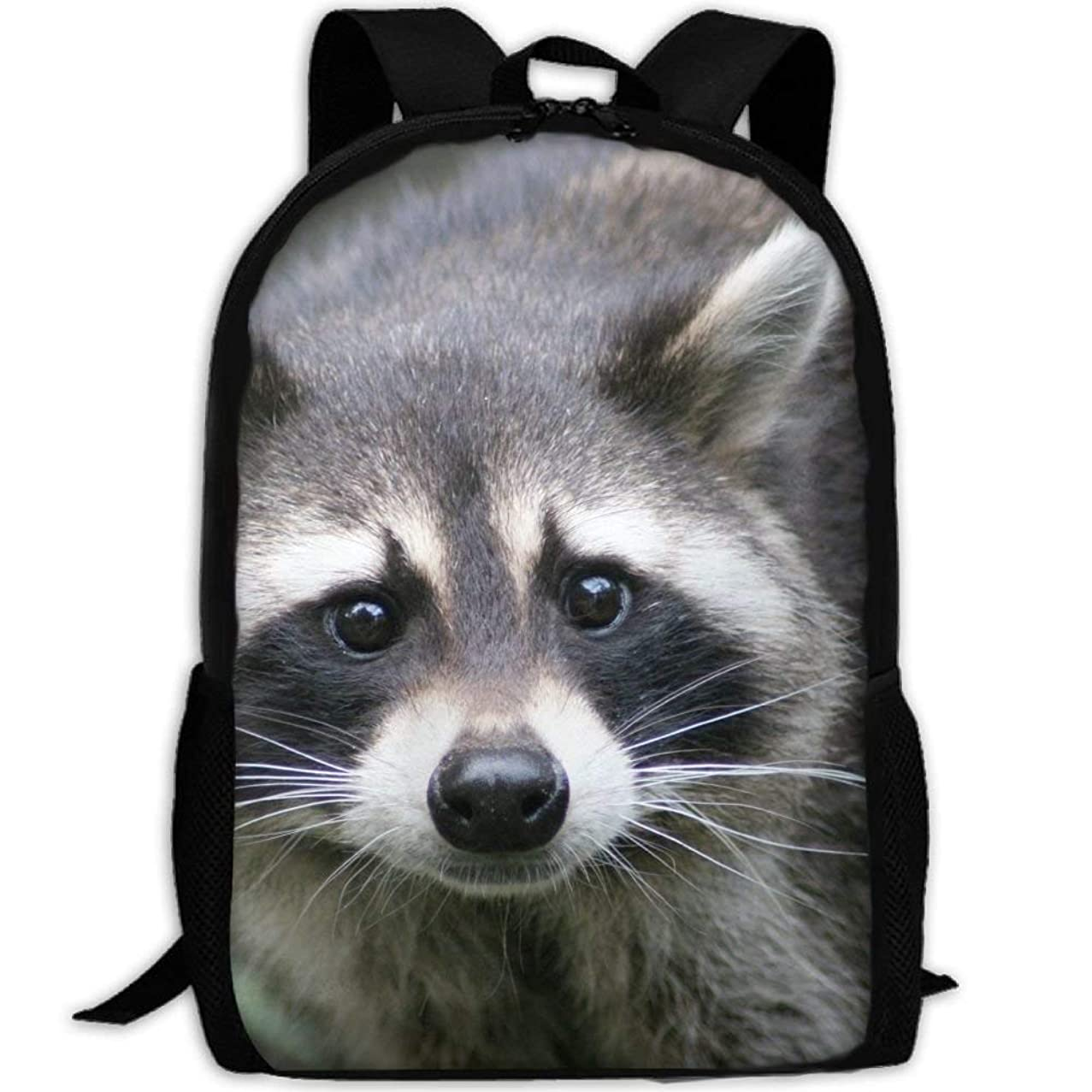 GongYe Raccoon Backpack for Adults Hiking Lizard Rest Durable Shoulders Bag Daypacks Color-36One Size