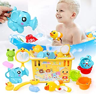 Coxeer 13PCS Interactive Shower Toy Creative Bathtub Toy Funny Bath Toy for Kids