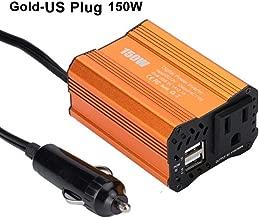 Ugthe150W Dual USB DC 12V to AC 110V/220V Modified Sine Wave Car Inverter Converter - GoldenUS Plug