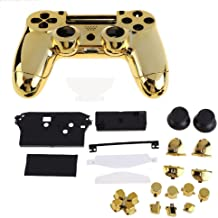 XFUNY(TM) Housing Game Front Back Controller Shell Polished Glossy Case Cover Protective Skin Replacement Part for Sony PlayStation 4 PS4 Controllers – Gold