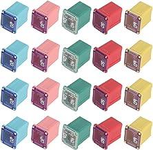 20PCS Jcase Fuse Assortment Automotive Low Profile Box Shaped Mini Jcase Fuse Kit - 20A 30A 40A 50A 60A