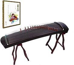 OrientalMusicSanctuary Professional Black Sandalwood Travel Guzheng - INCLUDES COMPREHENSIVE TUTORIAL BOOK AND ETUDES
