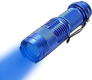 WAYLLSHINE Scalable Blue LED 3 Mode Long Range Blue Beam Blue Light Flashlight, Blue Flashlight Blue LED Flashlight Torch with Blue Light For Night Fishling, Detecting-Blue House