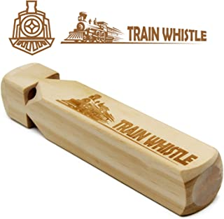 Wooden Train Whistle 4 Tone Toddlers Educational Party favorsToy Gift with Beautiful Train Pattern & Blast Chart
