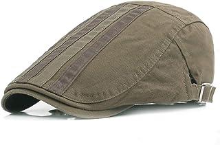 2019 Women Quilted Peaked Cap Men Cotton Adjustable Flat Cap Duckbill Newsboy Gatsby Irish Hat 55-59cm Skin-Friendly (Color : 3, Size : Free Size)