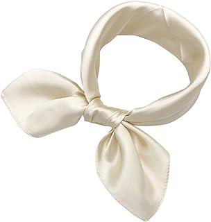 YOUR SMILE 100% Silk Scarf Women's Fashion Pattern Large Square Satin Headscarf Headdress 24''x24''