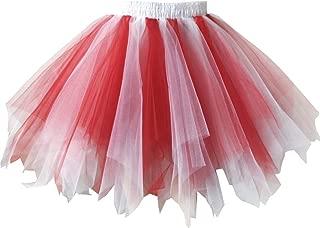 Women's Tutu Tulle Petticoat Ballet Bubble Skirts Short Prom Dress Up