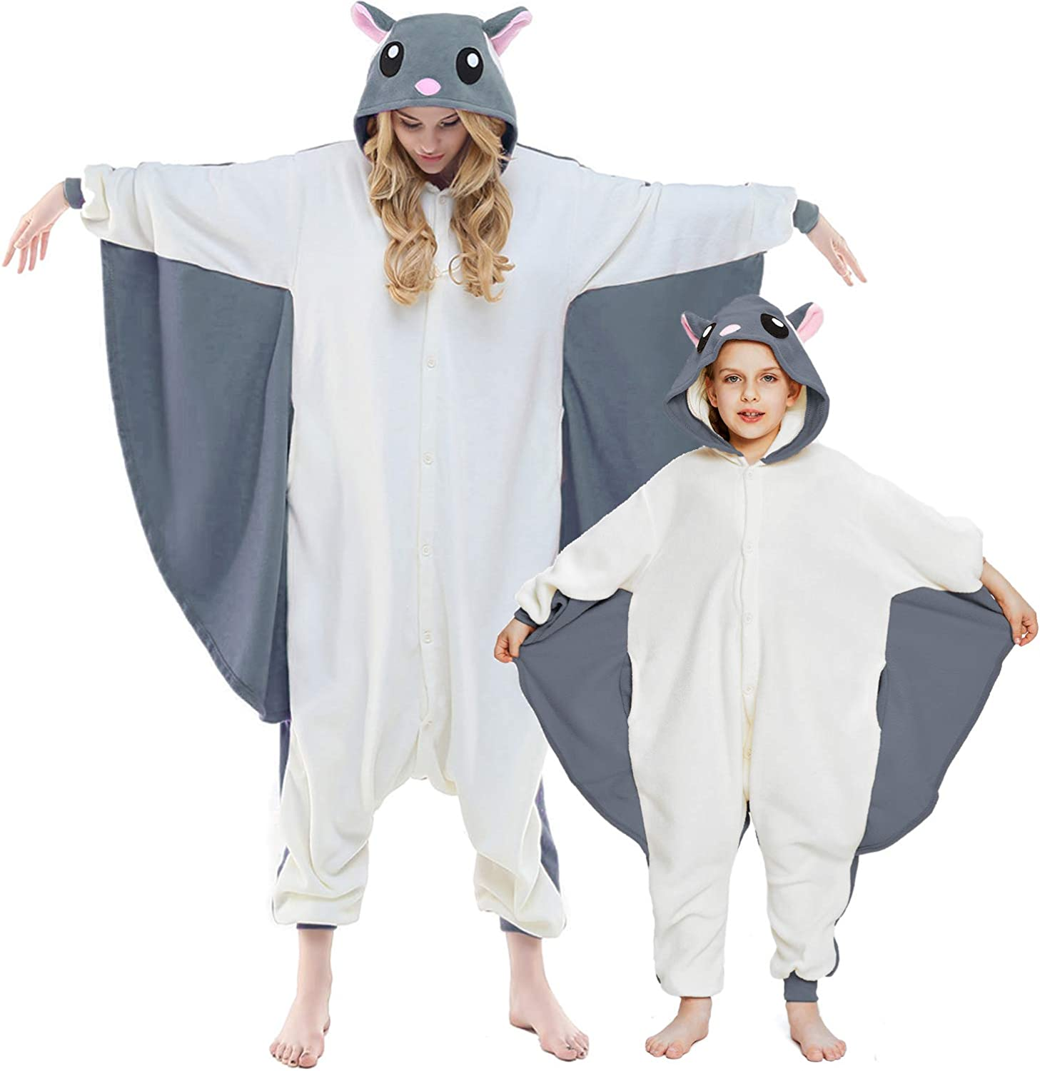 NEWCOSPLAY Unisex Adult 2021 model Kid Max 73% OFF Flying One Plush Squirrel Pajamas- P