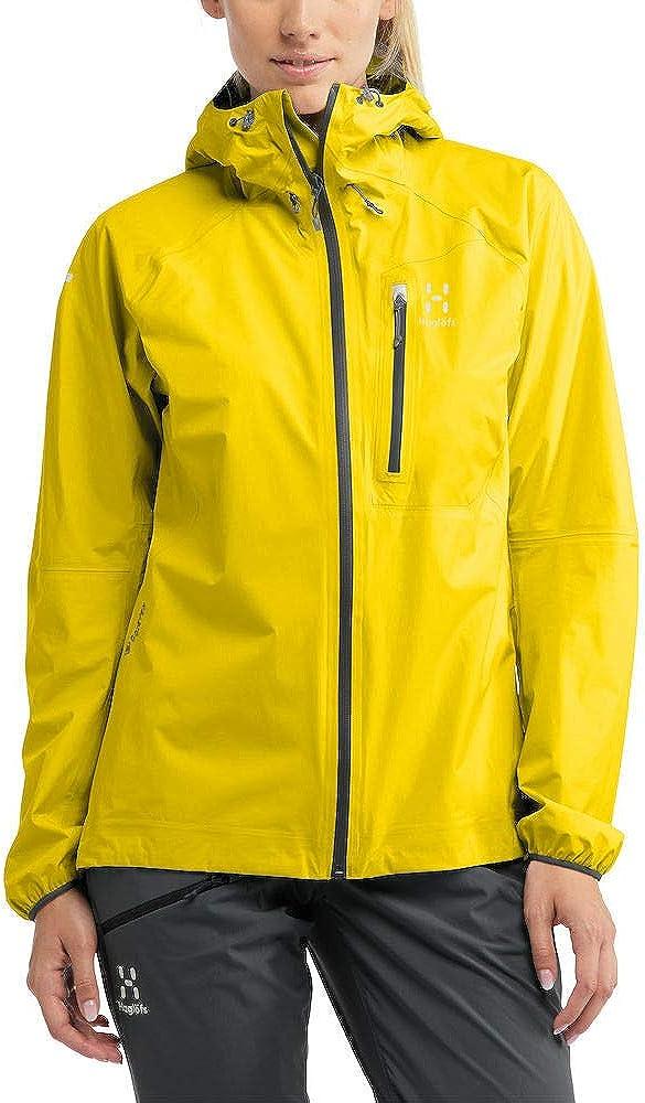 Haglöfs Regenjacke Frauen Regenjacke L.I.M Jacket Wasserdicht, Winddicht, Atmungsaktiv Extra Small Signal Yellow