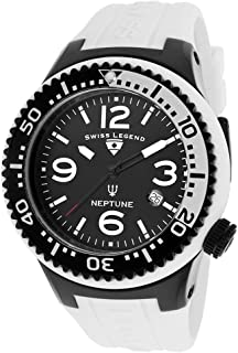 Swiss Legend Men 21848P-BB-01-WB-WC Neptune Analog Display Swiss Quartz White Watch