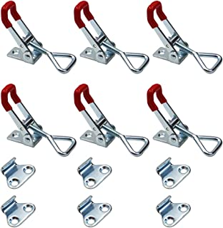 Adjustable Toggle Clamp, 6Pack 360lbs Holding Capacity Heavy Duty 4001 Style Toggle Latch Hasp Clamp