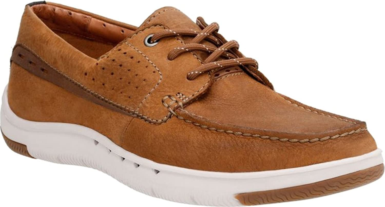 CLARKS män'n Un.Maslow Un.Maslow Un.Maslow Edge Mörk Tan Tumbled läder skor  populär