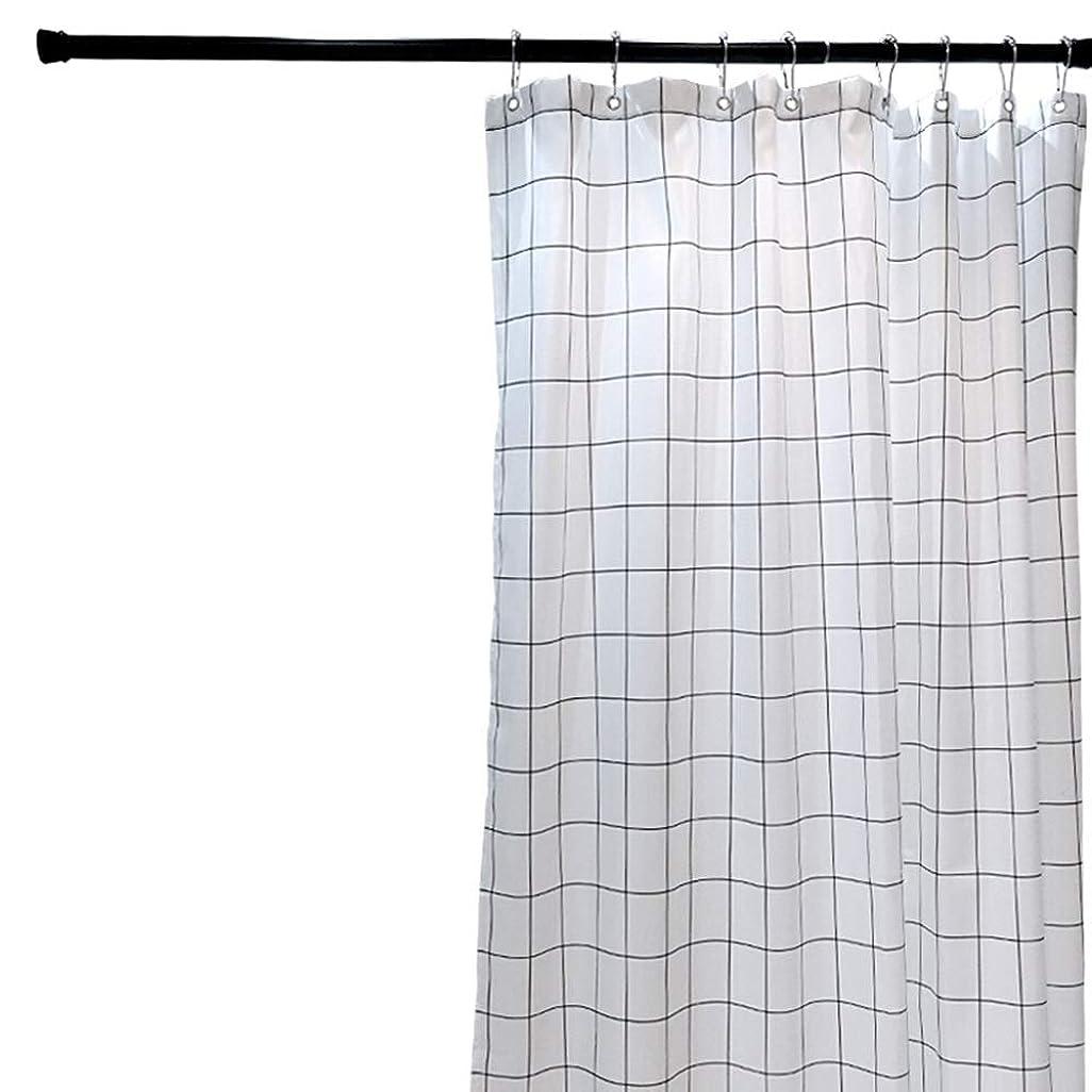分数フィード温帯シャワー日本のシンプルな肥厚カビバスルームのカーテンハンギングカーテンターポリンパーティションカーテンポリエステルのためのシャワーカーテンバスルームのカーテンカーテン JINJINTAO (Color : White, Size : 180x200cm)