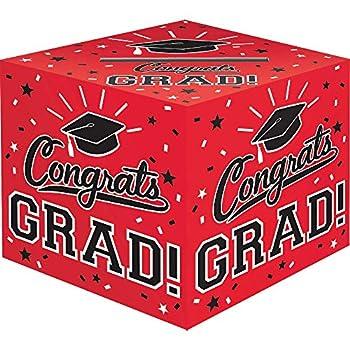 Amscan Grad Cardholder Box 12  x 12  x 12  Red