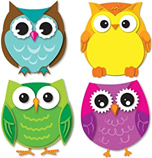 Carson Dellosa – Colorful Owls Mini Colorful Cut-Outs, Classroom Décor, 36 Pieces
