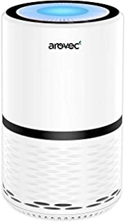 AROVEC™ H13 True HEPA Air Purifier, Compact for home Air Cleaner, 3-Stage filter system. Removes Germs, Smoke, Dust, Polle...